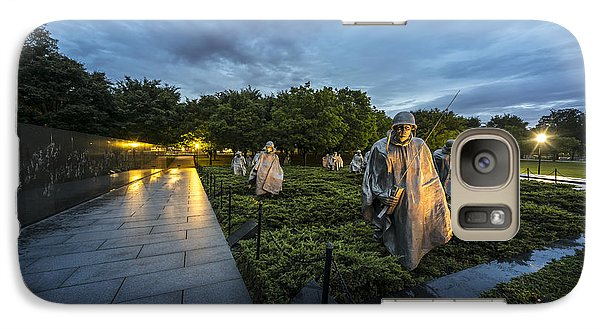 Galaxy Case featuring the photograph Korean War Memorial by David Morefield