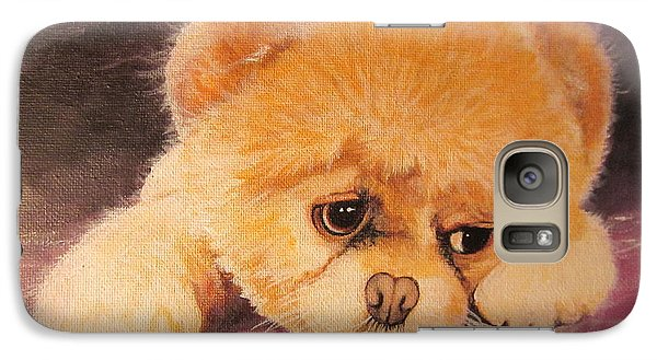 Galaxy Case featuring the painting Koty The Puppy by Sigrid Tune