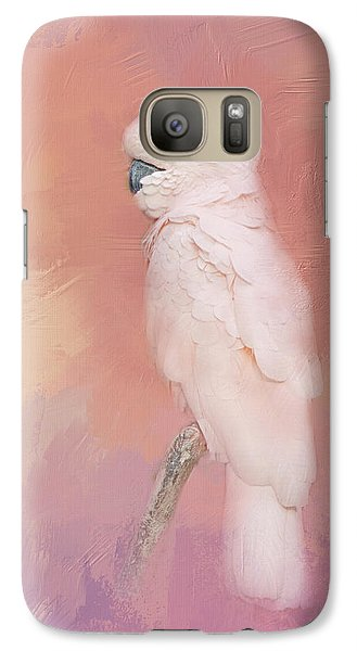 Galaxy Case featuring the photograph Kramer The Moluccan Cockatoo by Theresa Tahara