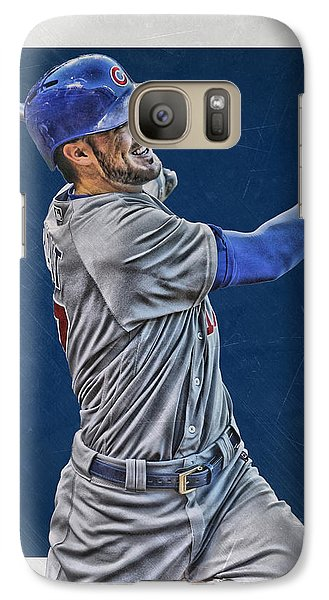 Kris Bryant Chicago Cubs Art 3 Galaxy S7 Case by Joe Hamilton