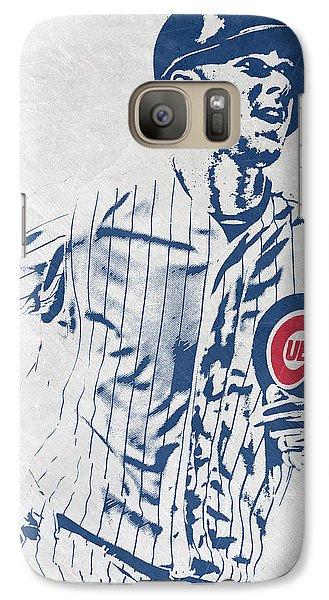 Chicago Cubs Galaxy S7 Case - kris bryant CHICAGO CUBS PIXEL ART 2 by Joe Hamilton