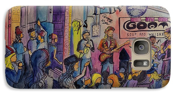Galaxy Case featuring the painting Kris Lager Band At The Goat by David Sockrider