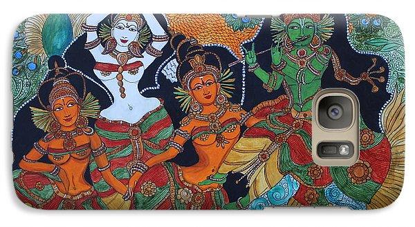 Galaxy Case featuring the painting Krishna And Gopika by Saranya Haridasan