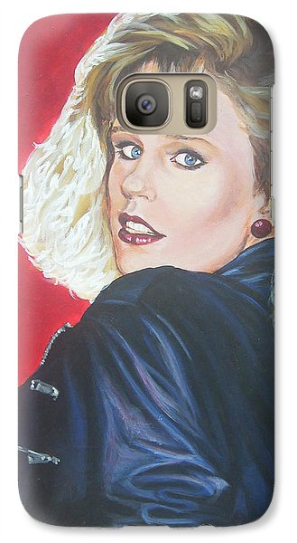 Galaxy Case featuring the painting Kristi Sommers by Bryan Bustard