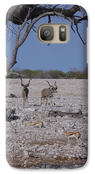 Galaxy Case featuring the photograph Kudu And Springbok 2 by Ernie Echols