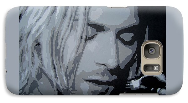 Galaxy Case featuring the painting Kurt Cobain by Ashley Price