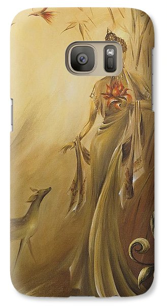 Galaxy Case featuring the painting Kwan Yins Garden by Dina Dargo