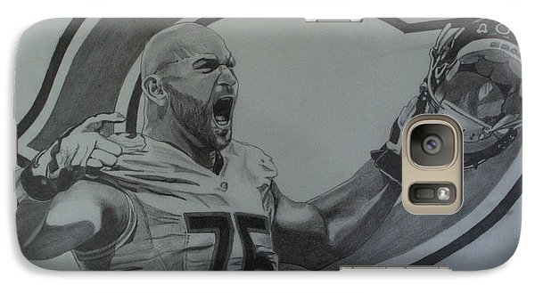 Galaxy Case featuring the drawing Kyle Long Portrait by Melissa Goodrich