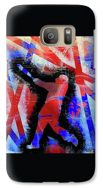 Galaxy Case featuring the painting Kyle Schwarber - #letsgo by Melissa Goodrich