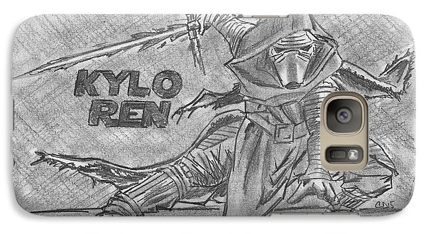 Galaxy Case featuring the drawing Kylo Ren The Force Awakens by Chris DelVecchio