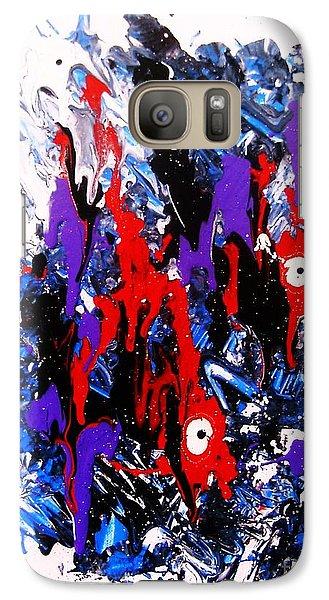 Galaxy Case featuring the painting Kyodai Ika No Hokaku by Roberto Prusso