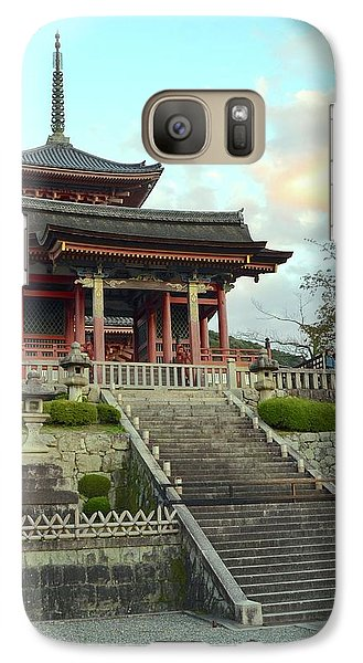 Galaxy Case featuring the photograph Kyoto Temple by Corinne Rhode
