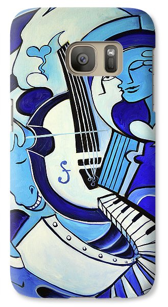 Abstract Galaxy S7 Case - L Amour Ou Quoi 2 by Valerie Vescovi