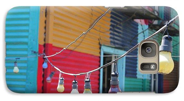 Galaxy Case featuring the photograph La Boca Lightbulbs by Wilko Van de Kamp