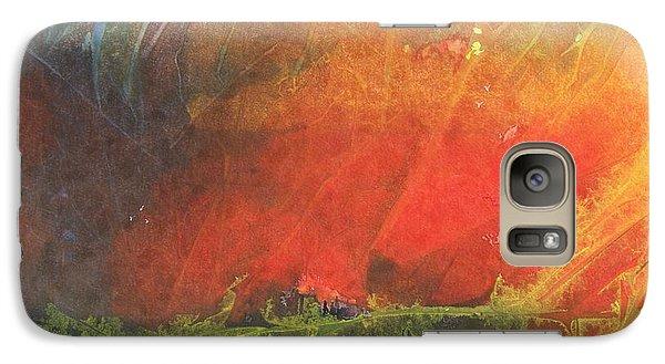 Galaxy Case featuring the painting La Caleta Del Diablo by Jackie Mueller-Jones