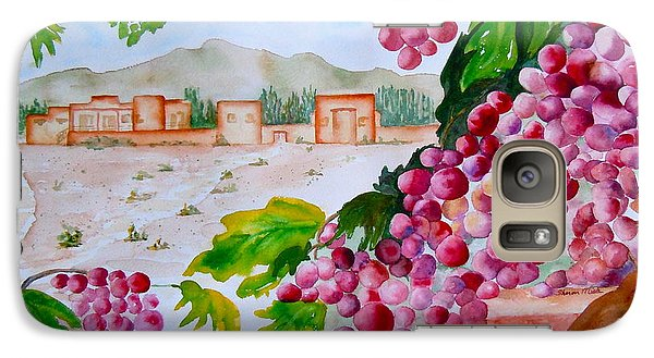 Galaxy Case featuring the painting La Casa Del Vino by Sharon Mick