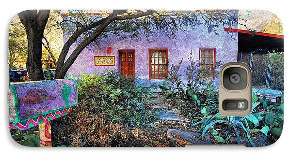 Galaxy Case featuring the photograph La Casa Lila by Barbara Manis