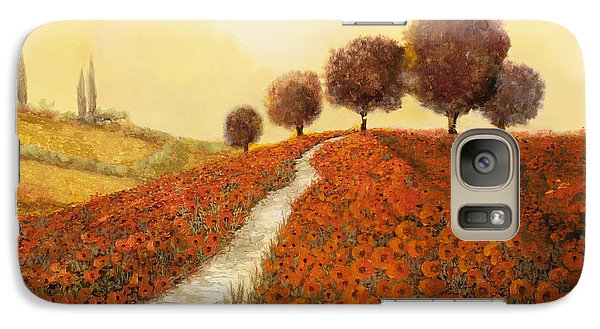 Landscapes Galaxy S7 Case - La Collina Dei Papaveri by Guido Borelli