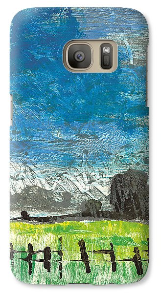 Galaxy Case featuring the painting La Crau by Martin Stankewitz