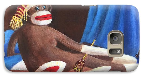 Galaxy Case featuring the painting La Grande Sock Monkey by Randol Burns