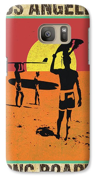 Galaxy Case featuring the digital art La Long Boards by Greg Sharpe