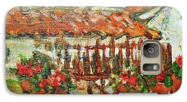Galaxy Case featuring the painting La Mancha by Mindy Newman