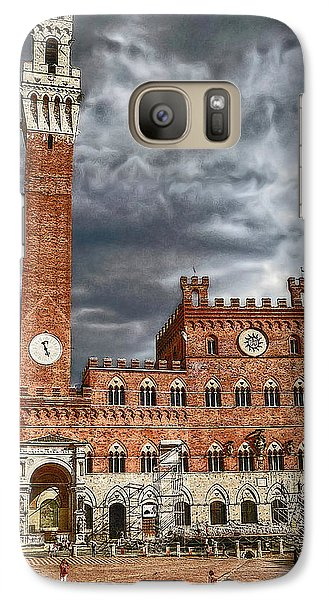 Galaxy Case featuring the photograph La Piazza by Hanny Heim