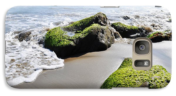 Galaxy Case featuring the photograph La Piedra Shore Malibu by Kyle Hanson