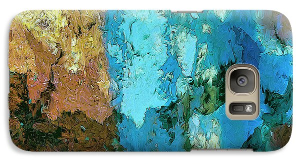 Galaxy Case featuring the painting La Playa by Dominic Piperata