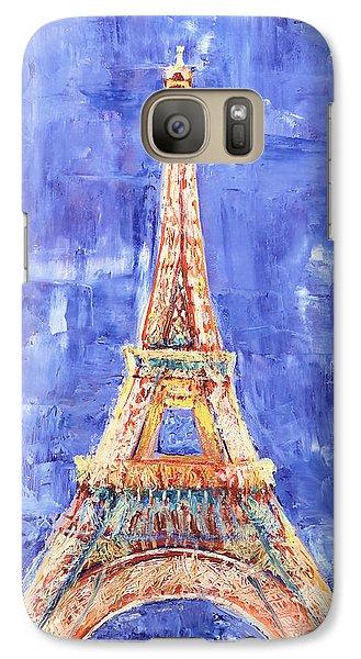 Galaxy Case featuring the painting La Tour Eiffel by Elizabeth Lock