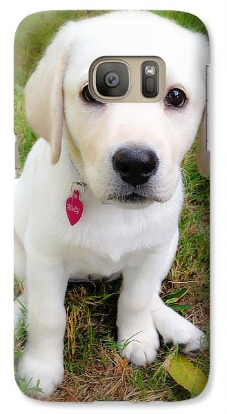 Galaxy Case featuring the photograph Lab Puppy by Stephen Anderson
