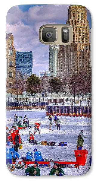 Galaxy Case featuring the photograph Labatts Pond Hockey by Don Nieman