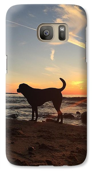 Galaxy Case featuring the photograph Labrador Dreams by Paula Brown