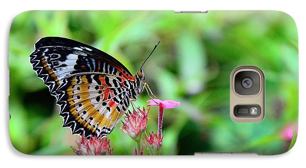 Galaxy Case featuring the photograph Lace Wing Butterfly by Corinne Rhode