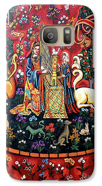 Galaxy Case featuring the painting Lady And The Unicorn Sound by Genevieve Esson