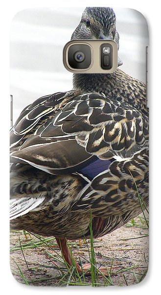 Galaxy Case featuring the photograph Lady by Angie Rea