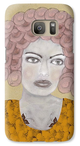 Galaxy Case featuring the painting Lady Butterfly by Bri B