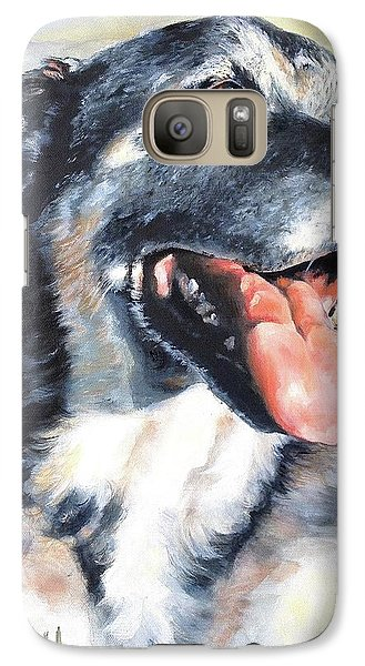 Galaxy Case featuring the painting Lady by Diane Daigle