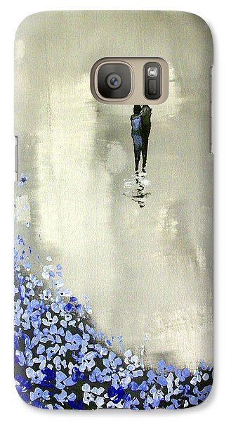 Galaxy Case featuring the painting Lady In Blue by Raymond Doward