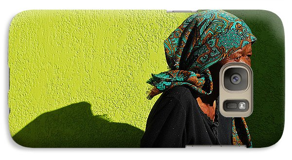 Galaxy Case featuring the photograph Lady In Green by Skip Hunt