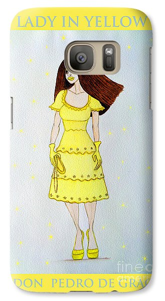 Galaxy Case featuring the painting Lady In Yellow by Don Pedro De Gracia