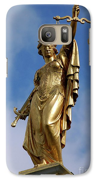 Galaxy Case featuring the photograph Lady Justice In Bruges by RicardMN Photography