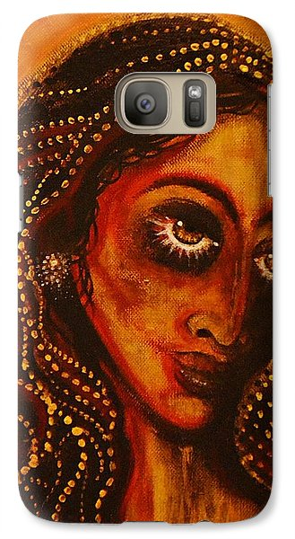 Galaxy Case featuring the painting Lady Of Gold by Sandro Ramani