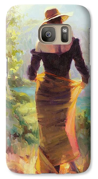 Impressionism Galaxy S7 Case - Lady Of The Lake by Steve Henderson
