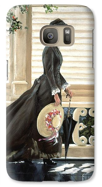 Galaxy Case featuring the painting Lady On A Porch by Michael Swanson