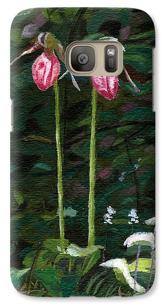 Galaxy Case featuring the painting Lady Slipper by Lynne Reichhart
