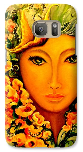 Galaxy Case featuring the painting Lady Sring by Yolanda Rodriguez