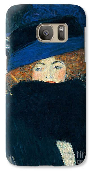 Lady With A Hat And A Feather Boa Galaxy S7 Case