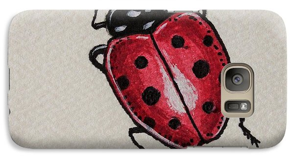 Galaxy Case featuring the painting Ladybug Crawling  by Elizabeth Robinette Tyndall