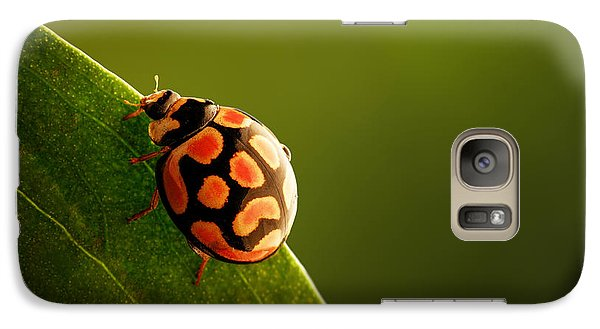 Beetle Galaxy S7 Case - Ladybug  On Green Leaf by Johan Swanepoel